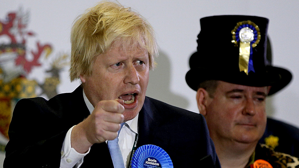 Boris Johnson speaks after winning his seat in Uxbridge (Reuters)