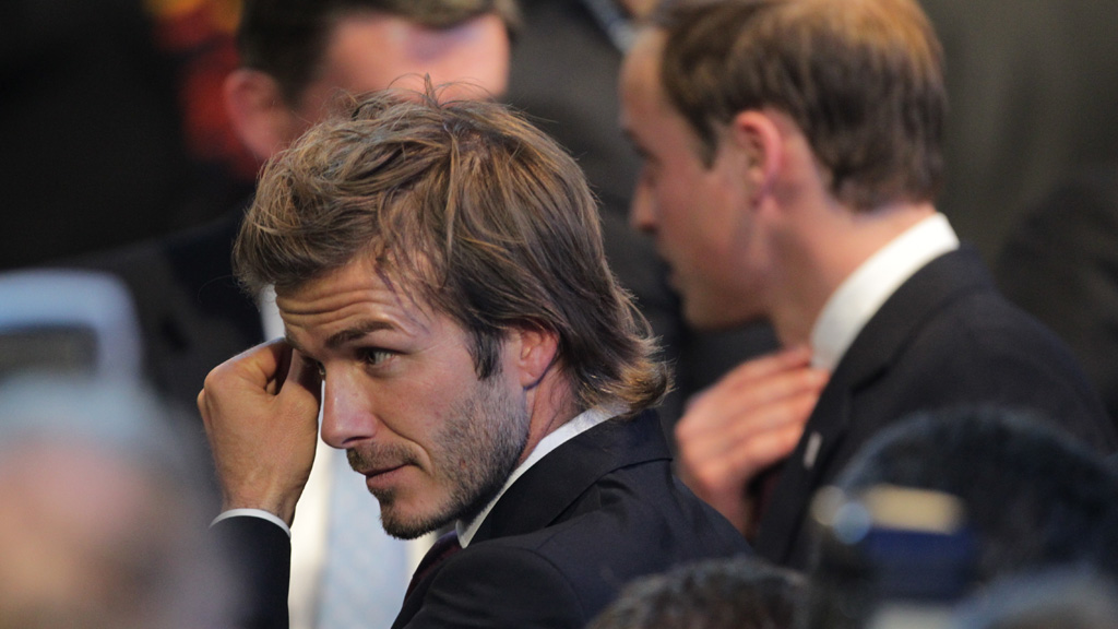 David Beckham reacts to England's failure to secure the 2018 World Cup
