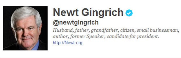 Newt Gingrich on Twitter.