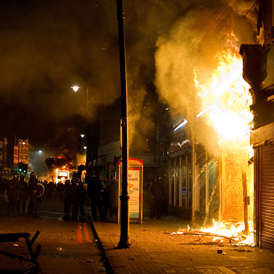 Fire in Tottenham, north London. (Getty