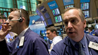 NYSE shares tumble as investors respond to the decision to cut the United States' AAA rating (Getty)