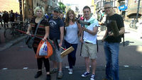 Heather Taylor and others involved in the Clapham Junction clean up