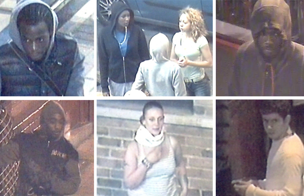 First CCTV pictures released of riot suspects