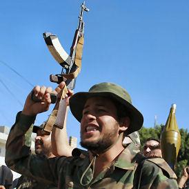 Libyan rebels in Zawiyah (Reuters)