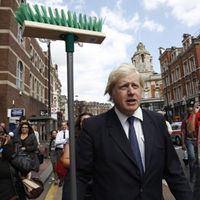 Boris vows to clean the streets of London whilst in Clapham last week