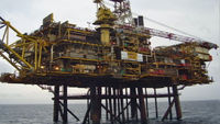 Shell operates the Gannet Alpha platform off the coast of Aberdeen.