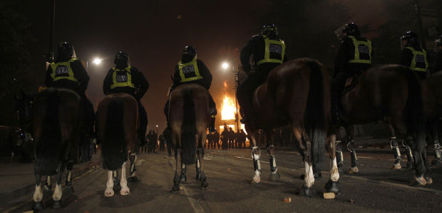 The Met used horses and dogs to help them police the London riots (Reuters)