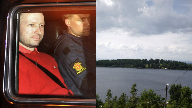 Norway gunman Anders Behring Breivik returns to shooting island (Getty)