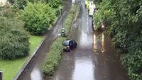 Flooding in Bournemouth following flash floods