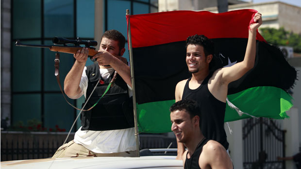Libya rebels in Tripoli (Reuters)