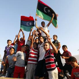 Libya kids - Reuters