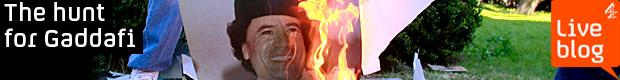 LIVE BLOG: manhunt for Gaddafi (Getty)