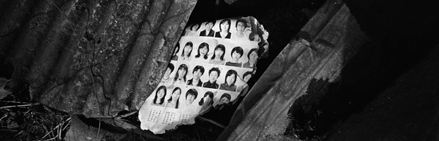 A page of a yearbook is seen among the debris at an area destroyed by the magnitude 9.0 earthquake and tsunami in Kesennuma town (Reuters)