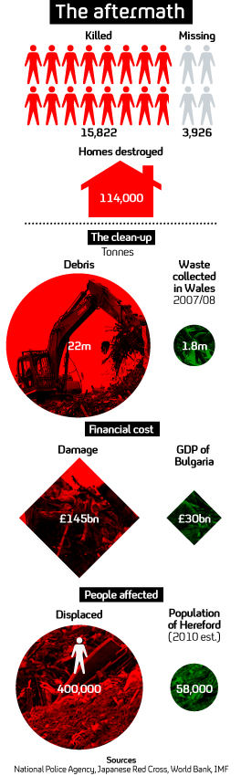 Fact and figures from the Japanese tsunami.