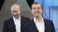 Putin and Medvedev - Reuters