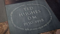 Plaque to Ted Hughes (Getty)