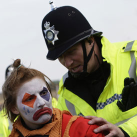 Protests at Ratcliffe power station (Reuters)
