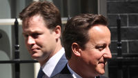 Clegg absent as Cameron defends EU veto decision