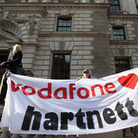 Occupy London demonstrators protest HMRC deal with Vodafone (Getty)