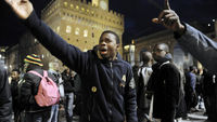 African protesters in Italy (Reuters)