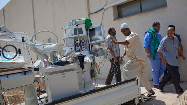 Life in Tripoli's hospitals after Gaddafi. (Getty)