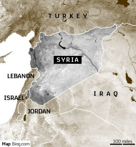 Syria and surrounding region