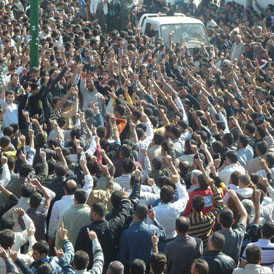Protests near Homs (Reuters)