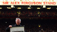 Sir Alex Ferguson stand unveiled at Old Trafford. (Getty)