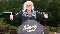 Sir Jimmy Savile in the garden of The Priests House near Bolton Abbey, North Yorkshire. (Photo: Dave Cropper)