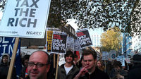 Anti-cuts protest in London