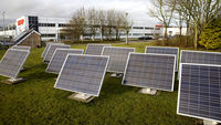A solar photo voltaics production factory in Wales