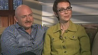 Congresswoman Gabrielle Giffords and her husband Mark Kelly (credit: ABC News)