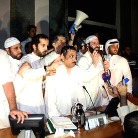 Protesters storm Kuwait parliament (reuters)