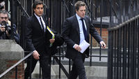 Hugh Grant arriving at RCJ (R)