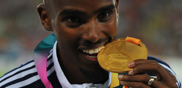 Mo Farah at the World Athletics Championship (Getty)