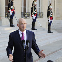 George Papandreou, Greek premier, as Greece is to miss deficit targets (Reuters)