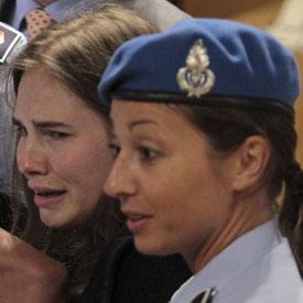 Amanda Knox in court, hears the verdict (Reuters)