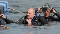 Vladimir Putin discovers undersea treasure (Reuters)