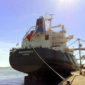 The MV Montecristo berthed in Italy earlier in 2011 (Reuters)