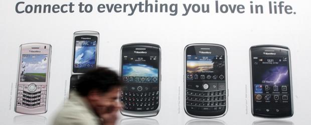 Advert for the BlackBerry range (Reuters)