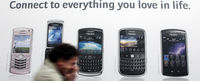 Advert for the BlackBerry range (Reuters)