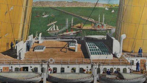 Olympic and Titanic at Belfast - Denis Cochrane