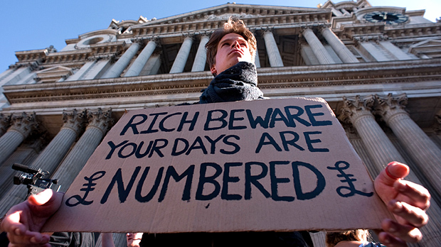 Occupy Wall Street-style protest targets London banks. (Getty)