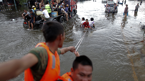 Bangkok spared as US sends in helicopters to search for victims (Image: Getty)
