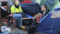 Occupy London protesters stay camped out in the City (Image: Getty)