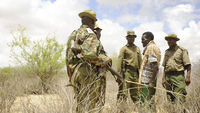 Kenyan police at the border with Somalia (Getty)