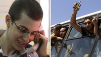 As Gilad Shalit returns to Israel, hundreds of Palestinian prisoners cross the border in the opposite direction.