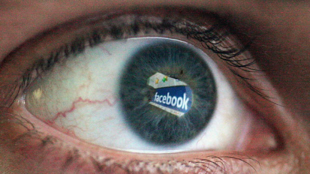 A Facebook user views a computer monitor (Getty)
