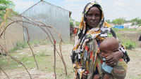 Jamlia's daughter was lost as rains hit famine ravaged Somalia (Save The Children)