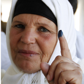 Manoubia Bouazizi, the mother of Mohamed Bouazizi